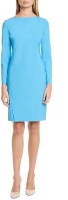 HUGO BOSS Diwoma Long Sleeve Stretch Wool Dress