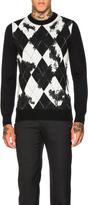 Alexander McQueen Worn Away Argyle Sweater