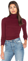 Michael Stars Long Sleeve Turtleneck in Maroon.