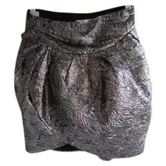 Isabel Marant Pour H&m Silver Cotton Skirt for Women