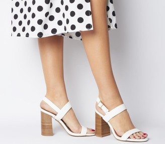 Office Happiness Two Part Sandals White