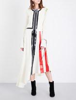J.W.Anderson Striped wool maxi dress