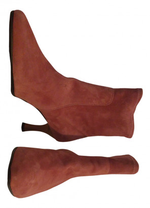 Maliparmi Pink Leather Ankle boots