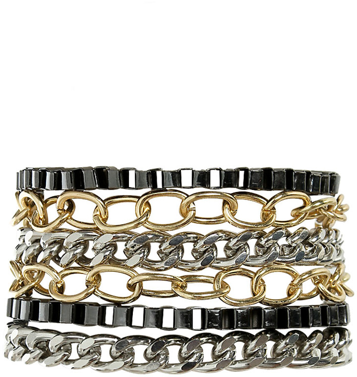 Arden B Layered Chain Magnetic Bracelet