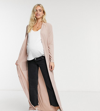 Club L Maternity Club L London Maternity maxi jacket co-ord in cream