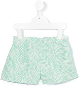 Hucklebones London - palm jacquard shorts - kids - Cotton/Polyester - 2 yrs