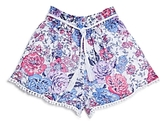 Ella Moss Girls' Floral Print Shorts - Big Kid