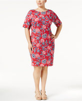 Karen Scott Plus Size Bandana-Print Dress, Created for Macy's