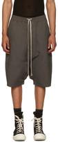 Rick Owens Grey Pods Shorts