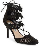 Karl Lagerfeld Paris Joslyn Lasercut Lace-Up Heels