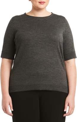 Toni T by Toni Plus Short Sleeve Merino Wool Sweater