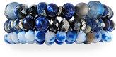 Lydell NYC Triple-Strand Beaded Bracelet, Blue