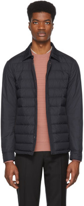 Ermenegildo Zegna Navy Down Shirt Jacket