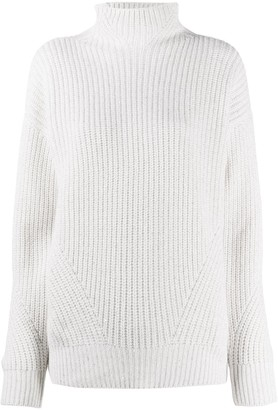 Lorena Antoniazzi Ribbed-Knit Roll Neck Jumper