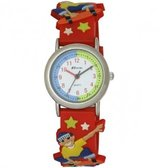 Ravel New Eye-Catching Skateboard 3D Kids Quartz Watch with White Dial Analogue Display and Multicolour PU Strap R1513.58