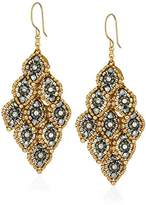 Miguel Ases Marquise Cluster Movable 3D Swarovski Drop Earrings