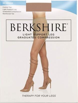 Berkshire Women's Relief Light Support Control Top Pantyhose 8101 30 Denier