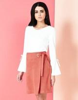 Yumi Ponte Wrap Skirt