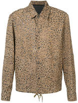 Alexander Wang Leopard Print Coach Shirt Jacket - Brown - Size IT52