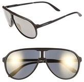 Carrera Men's Eyewear 62Mm Aviator Sunglasses - Black/ Ruthenium/ Black Brown