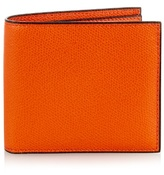 Valextra Bi-fold Grained-leather Wallet