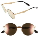 Ray-Ban Women's Highstreet 51Mm Round Sunglasses - Gold/ Pink