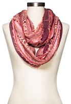 Merona Women's Infinity Scarf Coral Stripe