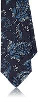 Brioni Men's Paisley Jacquard Necktie-NAVY