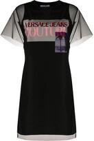 Versace sheer layered T-shirt dress