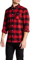 Wesc Olavi Plaid Long Sleeve Relaxed Fit Shirt