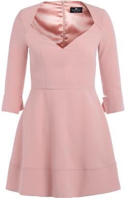 Elisabetta Franchi Celyn B. Elisabetta Franchi Antique Pink Dress With Low-cut Bodice