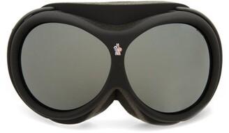 Moncler Logo-jacquard Strap Ski Goggles - Black