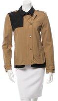 Veronica Beard Zip-Up Colorblock Jacket