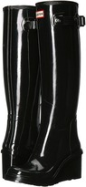 Hunter Original Refined Mid Wedge Tall Gloss Women's Rain Boots