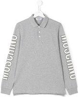 Moschino Kids Teen long sleeve polo shirt