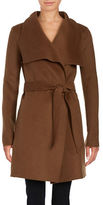 T Tahari Wing Collar Wool-Blend Wrap Coat