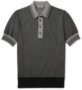 Bottega Veneta Contrast-Tipped Knitted Cotton Polo Shirt