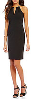 Betsey Johnson Keyhole Neck Sleeveless Scuba Sheath Dress