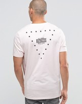 Asos Longline T-Shirt With Stars Print In Relaxed Fit