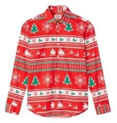 OppoSuits Big Boys Winter Wonderland Christmas Shirt