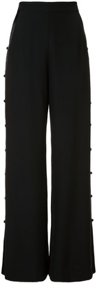 Fleur Du Mal Stripe Detail Wide-Leg Trousers