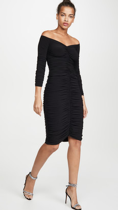Norma Kamali Off Shoulder Slinky Dress