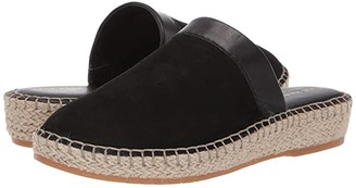Cole Haan Cloudfeel Espadrille Slide (Black Nubuck/Black Leather/Natural Jute/Gum) Women's Shoes