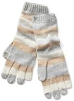 Gap Crazy stripe merino wool blend mittens