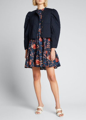 Ulla Johnson Arlo Quilted Puff-Sleeve Jacket