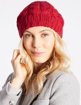 Marks and Spencer Cable Knit Beret Hat