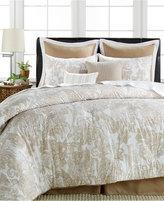 Sunham Everett 8-Pc. Cotton/Linen Queen Comforter Set