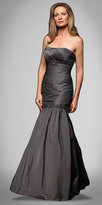 Strapless Charcoal Taffeta Mermaid Gowns by Alyce Designs