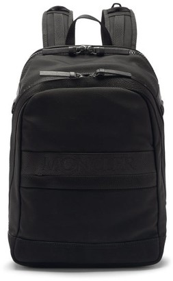 Moncler Gimont Leather-trimmed Nylon Backpack - Black