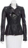Balenciaga Asymmetrical Leather Jacket